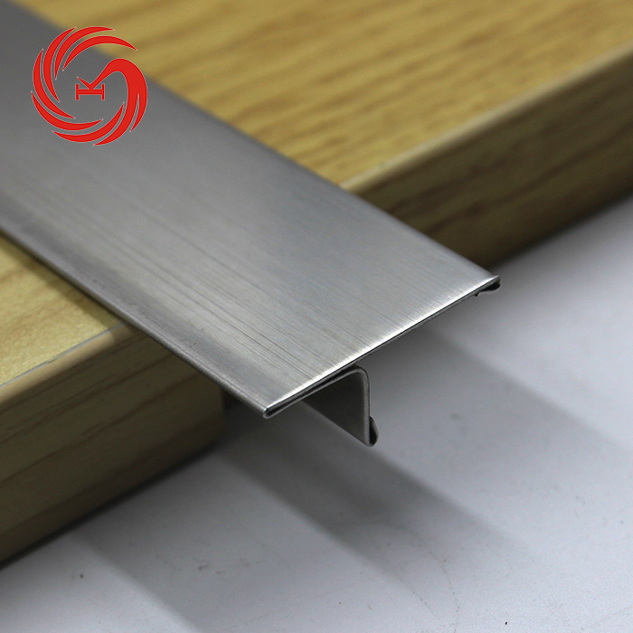 Various Styles T Shaped Edge Trim Floor Stainless Steel Metal Tile