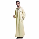High quality islamic men embroidered robe arab new design long thobe male clothing muslim