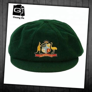 Hot selling custom Badge embroidery logo unstructured moss green cricket hat baggy cricket cap