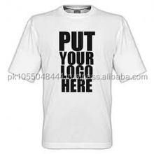 Plain White T SHIRT in cotton , polyester, Custom printing available composition and designs customization