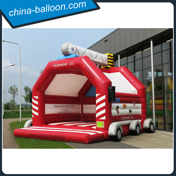 Fire truck inflatable bouncer, inflatable jumping bouncer