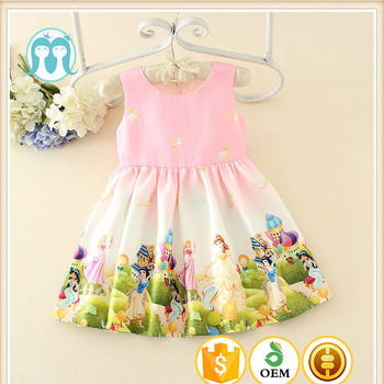 7e90c528b53 Hot sale Vietnam Pink Boutique girl clothing baby girl party dress children  frocks designs Lovely Cartoon