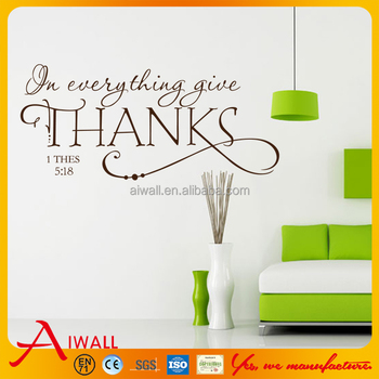9403 Quote Wall Stickers Thanksgiving Wall Quotes Stickers Diy Home