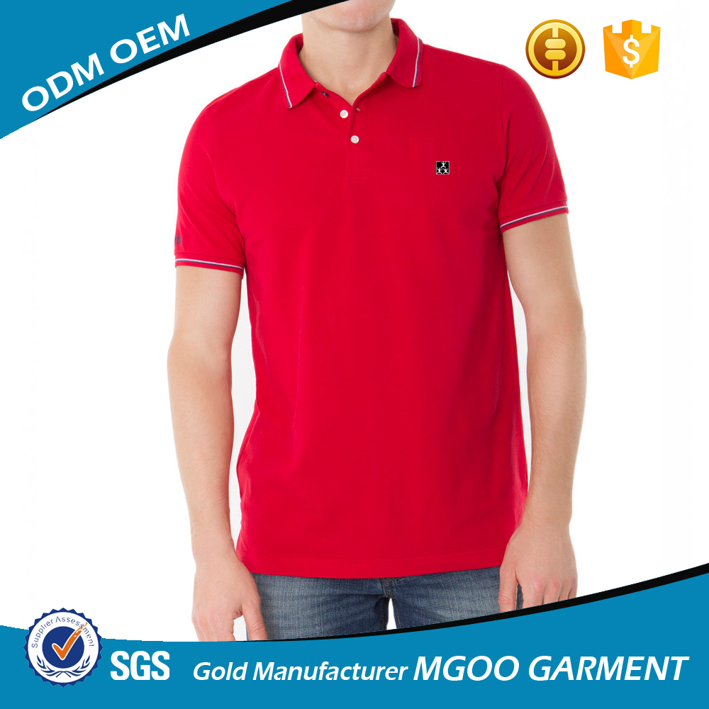Classic Polo Shirt Construction Custom Embroidered Logo On Patch 100