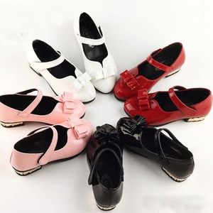 TSW5467 Korean style fancy bow teenage girls leather shoes