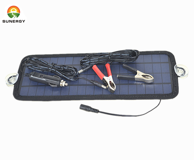 big upgraded solar panel car battery charger for 12V car battery