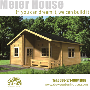 hot sale small bungalow wood house DY-C-117