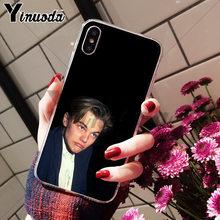Yinuoda cool Leonardo Dicaprio young Luxury High-end Аксессуары для телефонов Чехол для Apple iPhone 8 7 6 6S Plus X XS max 5 5S SE XR(Китай)