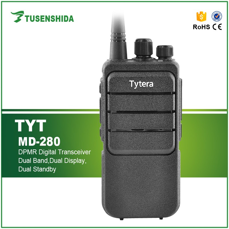 hot sale 5W TYT MD-280 DMR digital portable woki toki with hf FM Transceiver 2 way radio