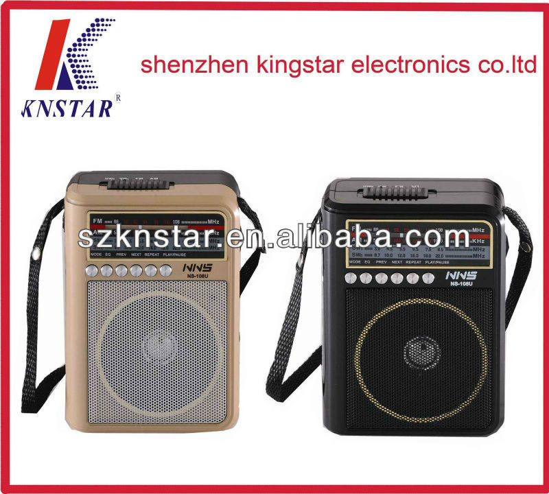 NS-108U hot selling outdoor portable radio with usb ad card