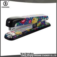 Fancy design recycled common printed floral mini stapler