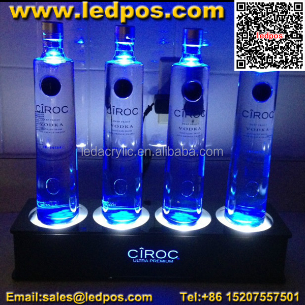 ciroc vodka bouteille lumi re pr sentoir retour bar glorificateur support d 39 affichage id de. Black Bedroom Furniture Sets. Home Design Ideas