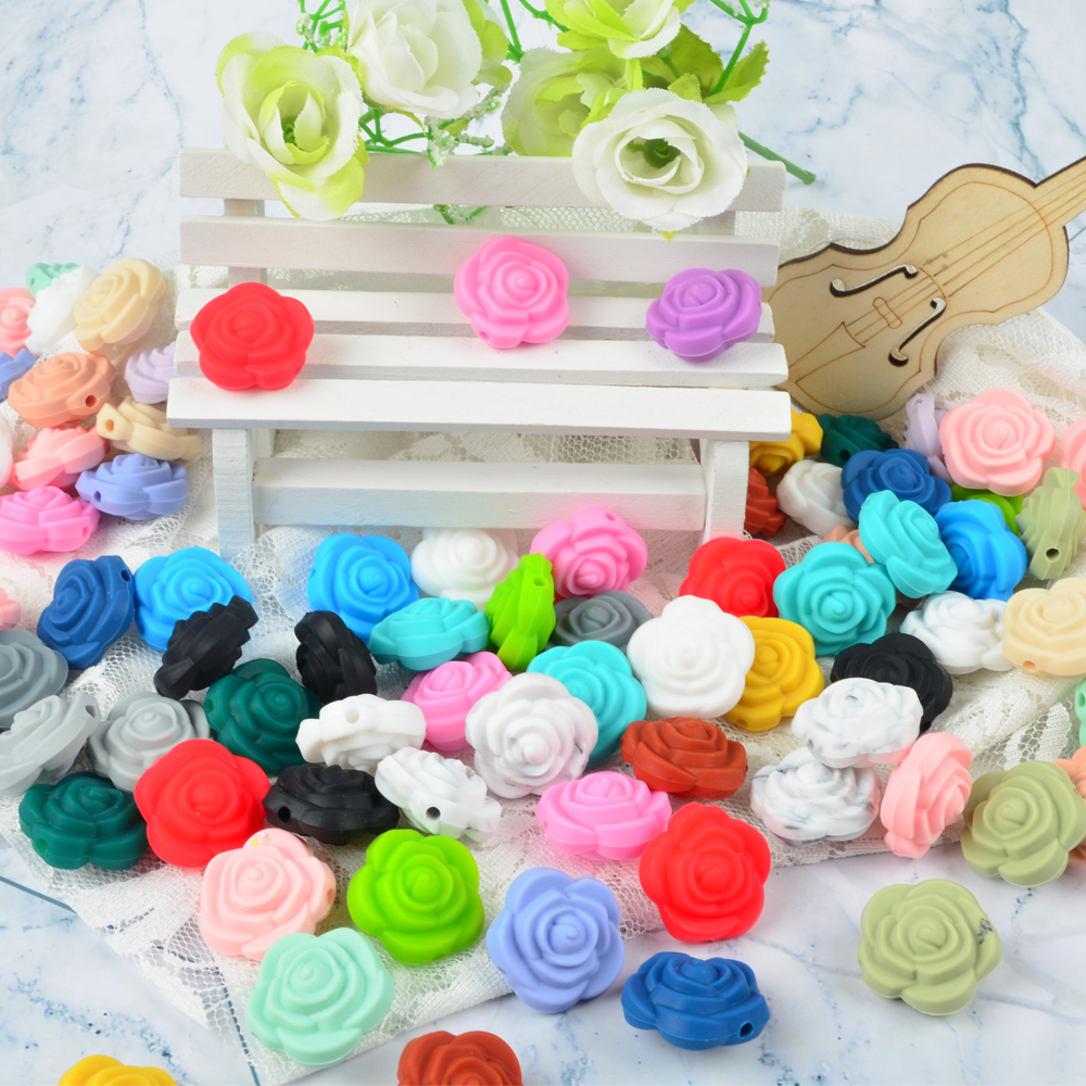 2018 Borjay New Products And New Colors Food Grade Silicone Beads For Baby Teething Jewelry