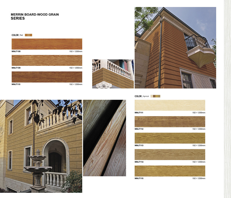 Wooden House Wood Wool Fiber Cement Exterior Panels For Wall