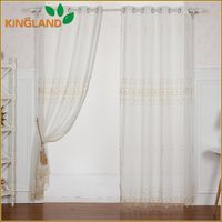 embroidery tulle curtain fabric and chemical lace curtain