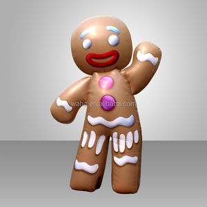 High Quality Christmas Decoration Giant Inflatable Gingerbread Man