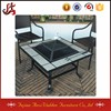 garden mosaic table fire pit with color