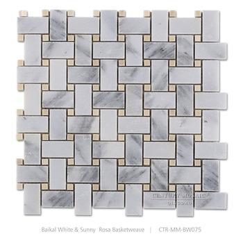 Baikal Marmo Bianco Striscia Con Oro Dot Cucina Piastrelle A Mosaico  Ingrosso - Buy Oro Mattonelle Di Mosaico,Tessere Di Mosaicoingrosso,Cucina  ...