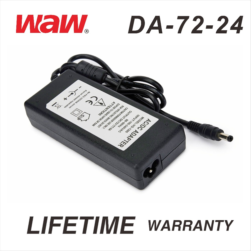 24V 3A ac to dc power adapter DA-72-24 for cctv camera and LED strip