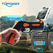 Hot Sale Smartphone Controlled Virtual Reality Android And Ios Game Player 3D Ar Gun With Cell Phone Stand Holder Portable