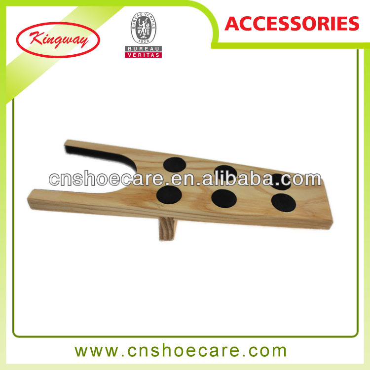 Cedar wooden boot jack with 6 dots hot in austrila