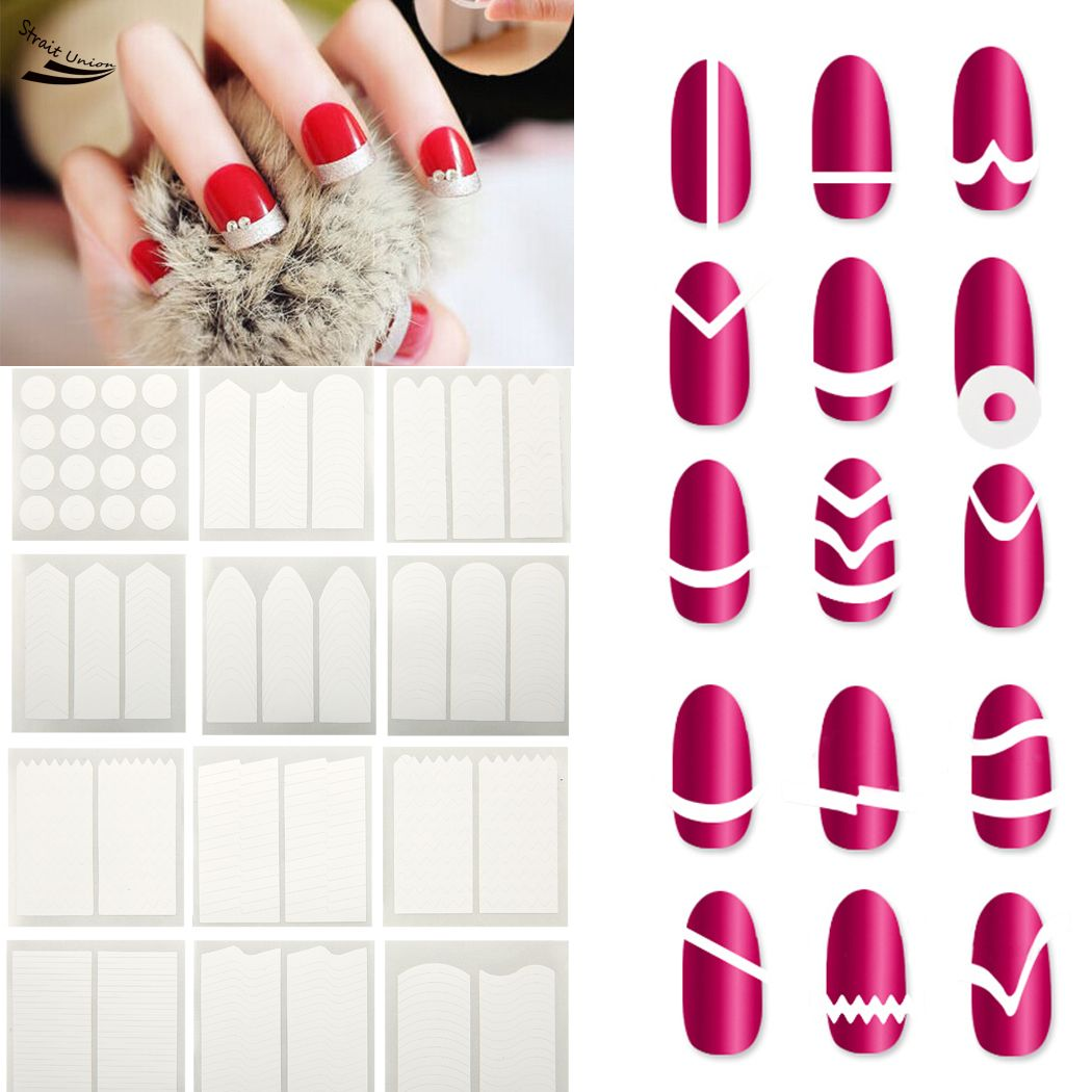 Home Design Diy App Wholesale 18pcs Nails Sticker Tips Guide French Manicure