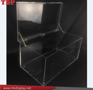 large decorative wholesale clear acrylic storage trunk with lid