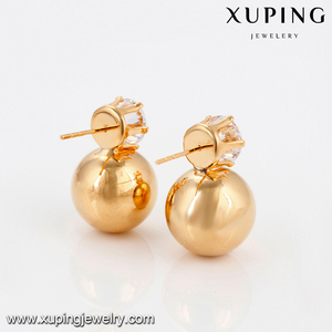 94367 Newest style fashion jewelry made in China , cheap wholesale fashion beads ear studs