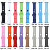Customize colors acceptable 38mm/42mm size silicone sports watch band strap for iwatch strap for apple watch band