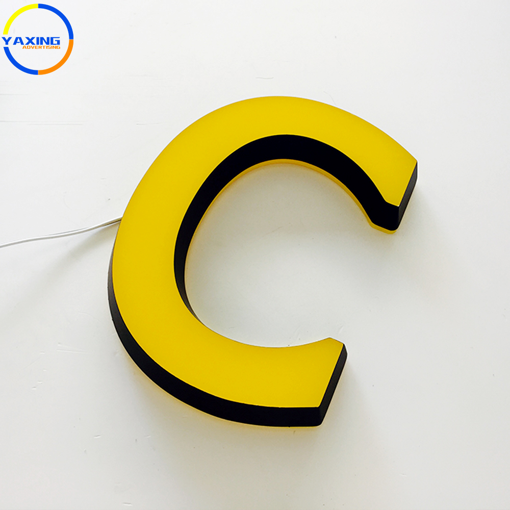 Low Voltage high quality Colorful company logo led illuminated letter sign