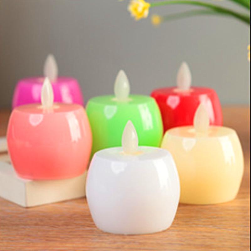 SmartLight GREEN Flameless Flickering LED Tea Light Candles Battery Tealights