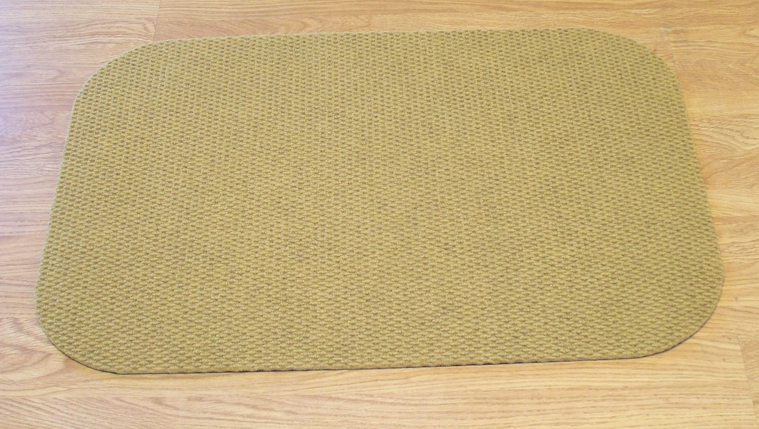 """Landing Mat for Essential Carpet Stair Treads - Style: Berber - Color: Gold - Size: 24"""" x 36"""""""