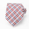 Fashion Red Checked Customized Man Necktie Silk Manufacturer