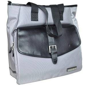 "The Sharper Image TSI-3004 Nylon Notebook Tote Bag - Fits up to 17"" (Gray/Black)"