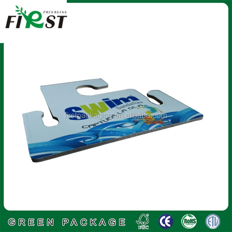 full color printing shoes paper cardboard hooks hanger