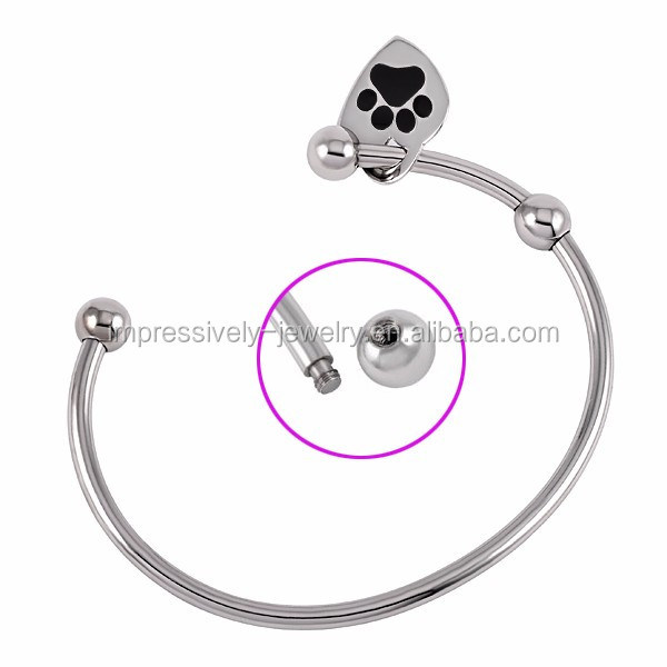 IJB0391 Ali express wholesale stainless steel cremation ash bracelet jewelry