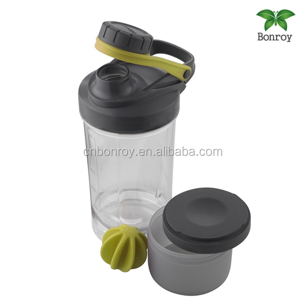 New Protein powder gym protein Shaker fitness Bottle with inserted mixing ball fitness special whey protein