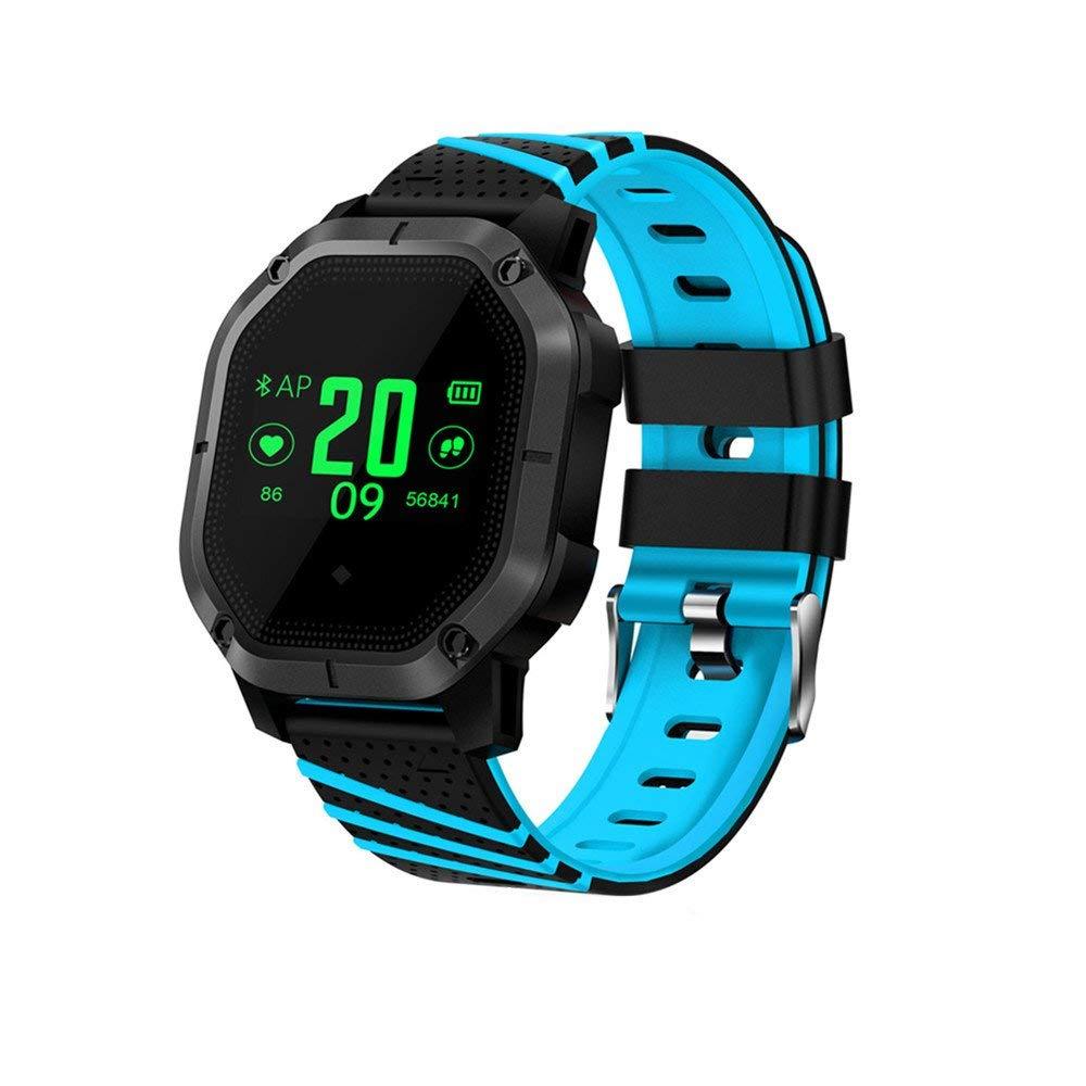 Miya Fitness Tracker IP68 Waterproof Swimming Wristband with Color Screen Fitness Bracelet Smart Heart Rate Blood Pressure Monitor Multi-sport mode Wristband for Kids Women Men-Blue