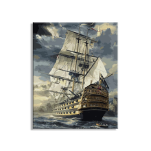 Wholesale Sea boat Diy oil painting by numbers