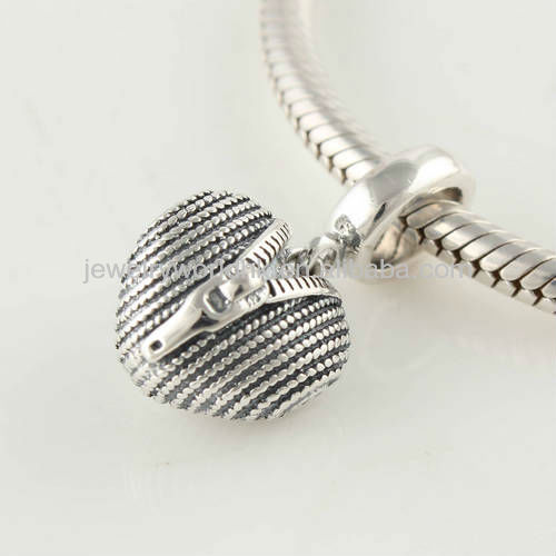 925 sterling silver open your heart zipper and love heart elements dangle charm bead fit for European bracelet