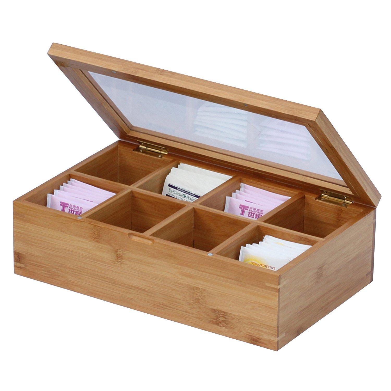 High Quality Airtight Bamboo Tea Box 4 Section 3