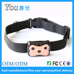 High quality IP58 waterproof D69 GPS LBS location pet tracker gps with pet collar