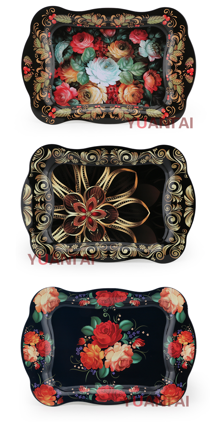 China Gift Wholesale Custom Rrolling Tray Tobacco Custom Metal Rolling Tray