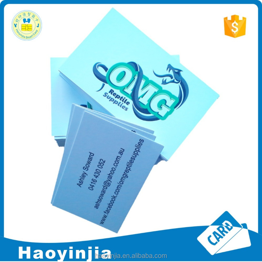 Colorful Spot Uv Business Card Printing