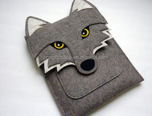2017 hot sale high quality textile new products alibaba china suppliers wholesale useful felt fox shaped laptop bag