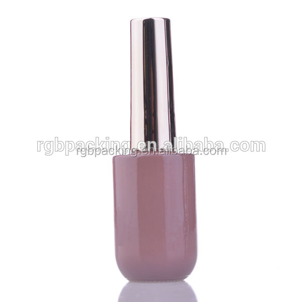 12ml UV protected nail gel lacquer glass bottle with cap and soak off nail gel polish bottle