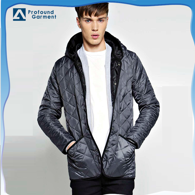 High quality OEM custom winter jacket men with quilted padding