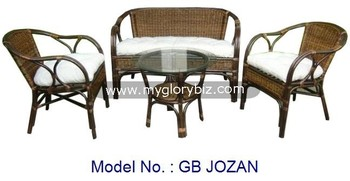 Modern Furniture Malaysia natural rattan sofa set modern furniture for indoor with round