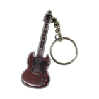 Wholesale custom made fashion mini keychain souvenir guitar keychain for gifts