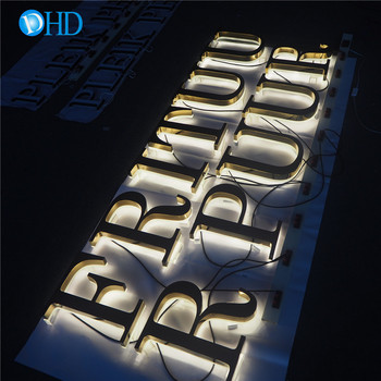 Outdoor backlit letter led store front signs makers